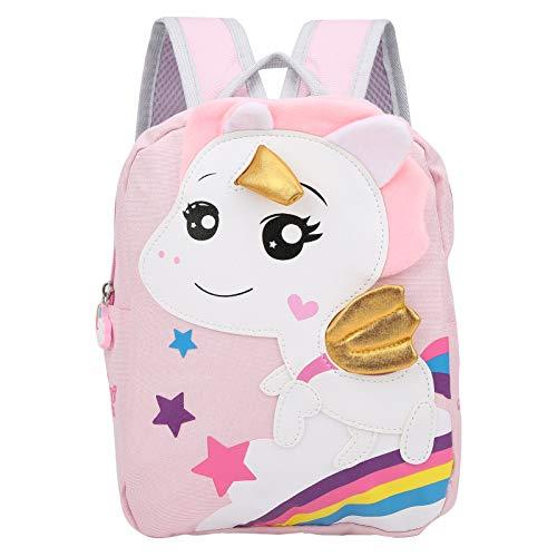 Mochila para niños pequeños, mochila ligera de nailon para preescolar, para bebés de menos de cinco años Bolsas de noche para cochecitos de bebé Mochilas escolares para niños pequeños(Pink)