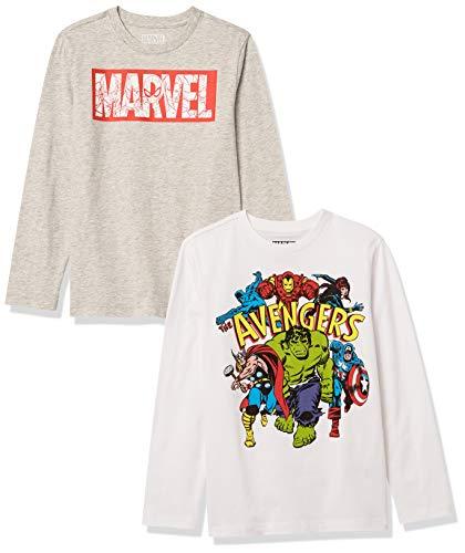 Amazon Essentials Disney Star Wars 2-Pack Long-Sleeve Tops T-Shirt, 2er-Pack Marvel Avengers, XS