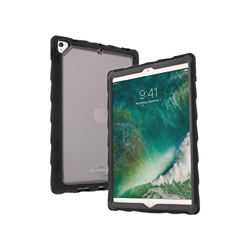 Gumdrop DropTech Clear Case Designed for The Apple iPad Pro 10.5 2017 Tablet for K-12 Students, Teachers, Kids - Black, Rugged, Shock Absorbing, Extreme Protection