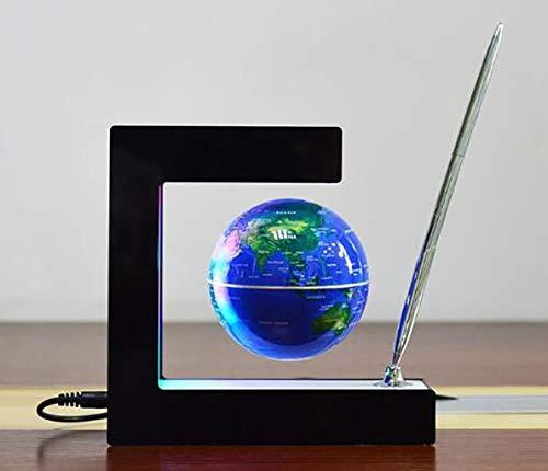 Zwevende Globe Onderwijs Praktische high-tech high-tech Globe Suspension Gadget Gadget Rotation (Color : Blue)
