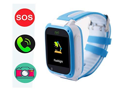 hangang GPS Tracker Smart Watch para niños, Smartwatch para chicas jóvenes Phone Watch Camera SOS Alarm Clock, Smart Watch para niños niños niñas cumpleaños grandes regalos