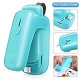 EZCO Bag Sealer, Mini 2 in 1 Heat Sealer & Cutter Handheld Plastic