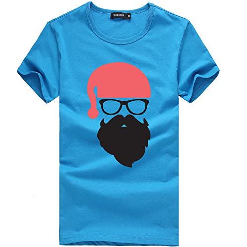 Auifor heren Kerstmis Printing Tees shirt korte mouwen T-shirt blouse