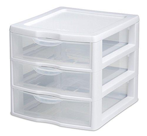 sterilite small 3 drawer unit - 3