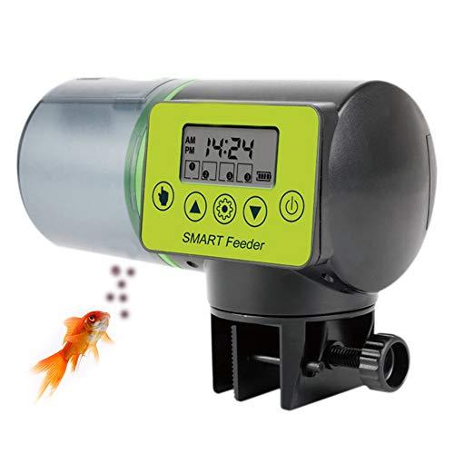 XYWBTCXK Automatische Fisch-Zufuhr mit hoher Kapazität Lithium-Batterie für Aquarium mit LCD-Display, Fischfutter Spender