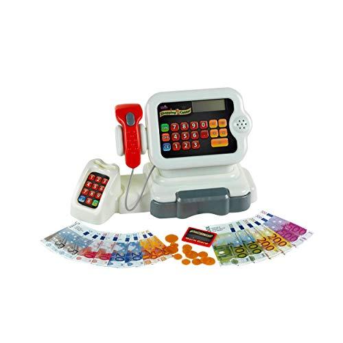 Theo Klein-9420 Caja Registradora Electrónica con Numerosas Funciones, Juguete, Multicolor (9420)