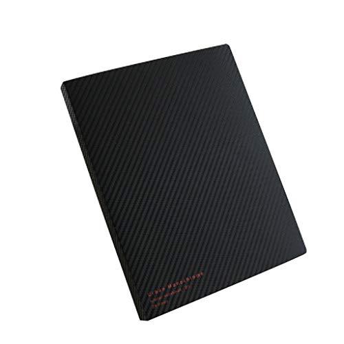Cuadernos de redacción A5 B5 Estuche para Libros de Hojas Sueltas Carpeta extraíble Cubierta en Blanco y Negro Business Office Notebook Bobina Libro de Mano Libro Papel