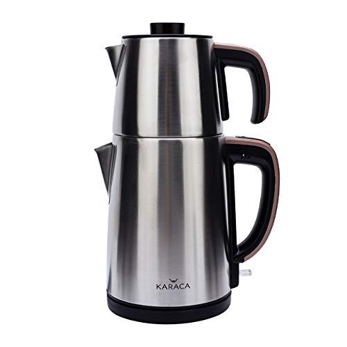 Karaca Teemaschine Rosagold, Teebereiter, Turkischer Teekocher, Teepot, Wasserkocher, Water Kettle, Tee, Teekanne…