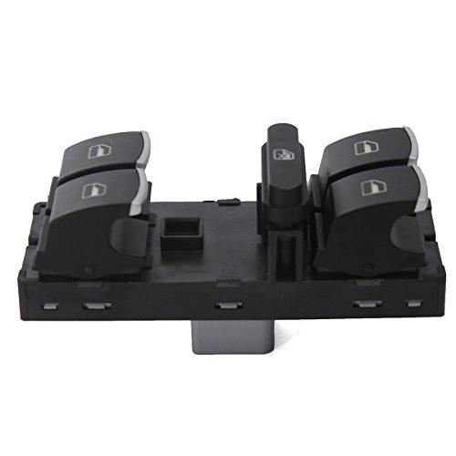 C-FUNN Interrupteur Principal De Fenêtre De Puissance Électrique Noir pour VW Mk5 Mk6 Passat