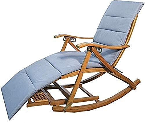 Gartenstuhl, Liegestühle Campingstühle Gartenliegen Klappstuhl Bambusliege Klappschaukelstuhl - Balkon Home Lounge Stuhl, verstellbare Rückenlehne
