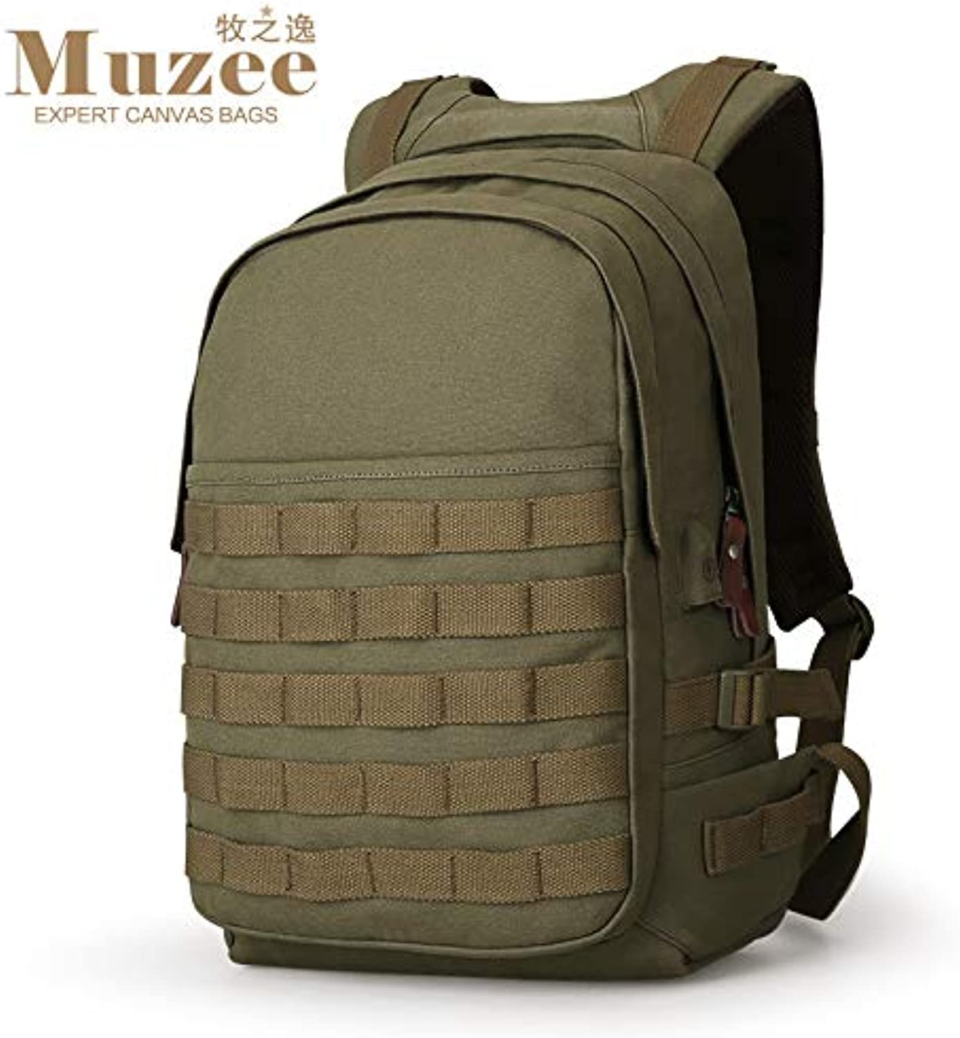 Schoolbag Fsweeth The backpack men doubleshoulder bag canvas casual stylish all,45  30  16cm, field green bags.