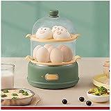 DKEE Huevo Hervidor de Huevos Hervidor de Huevos Hogar de Doble Capa multifunción Vaporera de Huevos Pequeño Huevo automático Desayuno Artefacto Vaporizador de Huevos (Color: Verde) (Color : Parent)