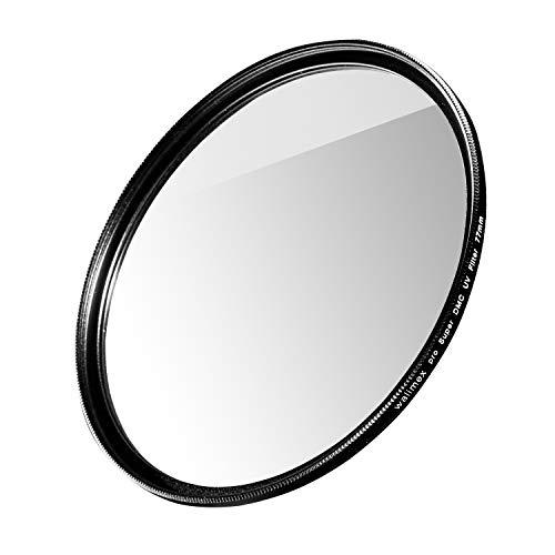 Walimex pro UV-Filter Slim Super DMC 77mm - besonders hochwertiger UV Filter Objektivfilter, Slim nur 2,5 mm,16x Super DMC Vergütung, für Objektivschutz und brilliante Farben, mit Box