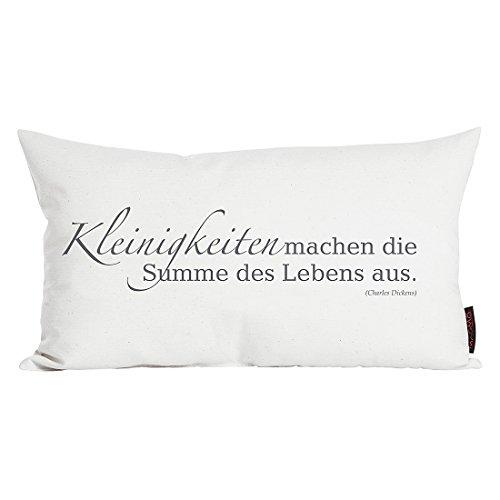 Zitat Kissen Design Sofakissen Charles Dickens 30x50