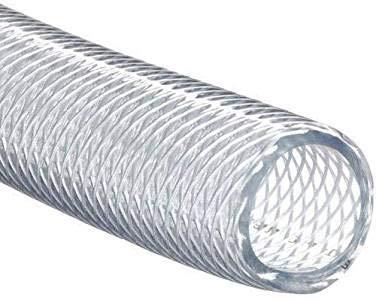 Tubo de PVC trenzado transparente de 13 mm ID 18 mm OD 1 m 3 ft