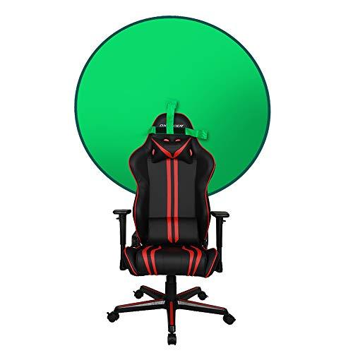 Hintergrund Lehne Greenscreen Durchmesser 142 cm Hintergrund Kamera kann virtuellen Hintergrund zoomen, faltbar und einfach zu speichern Remote Arbeit grünen Hintergrund (Siehe Artikel 1)