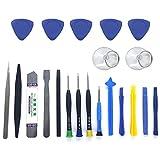 Kit D'outils de Réparation 21 en 1 pour Téléphone Portable de YCBest Téléphone Portable Professionnel Outil D'ouverture Multifonctionnel pour Démonter Le Tournevis (Bleu)