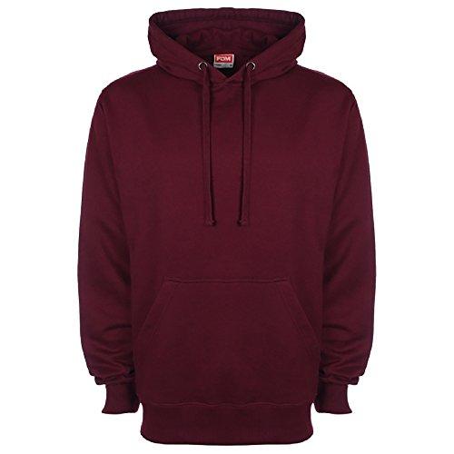 FDM Unisex Kapuzenpullover / Kapuzensweater (L) (Weinrot)