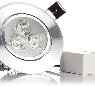 HJLHYL MORSEN 6W 500-550LM 3000k/6000K Cool/Warm White Color Support Dimmable LED Spot Lights LED Ceiling Lights(110-220V) , cool white-silver