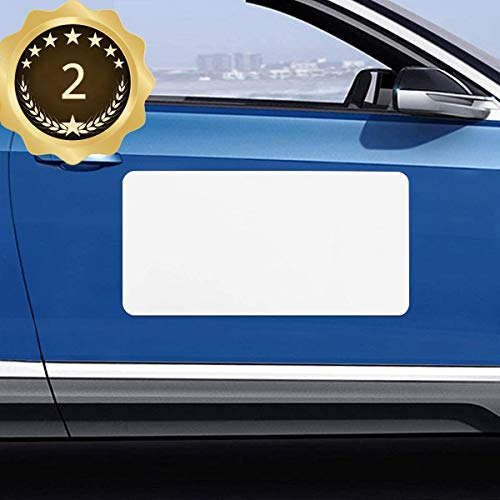 Blank Magnet for Car 2 Pack, Magnetic Sign for Vehicles, Business Signs for Car Doors, Magnetic Sheets to Cover Company Logo, Advertise Business, Prevent Scratches Rounded Corners (Regular Large)