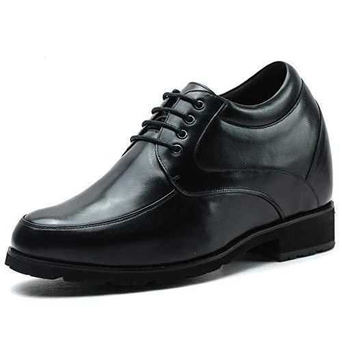 Faretti Elevator Shoes +12 cm Aufzug Anzug Lederschuhe Anzugschuhe Herren Business Leder Schuhe Größer Machen mit Versteckte Absatz Schuheinlagen Schuh Erhöhung Lift Schuhe Abaco I 42