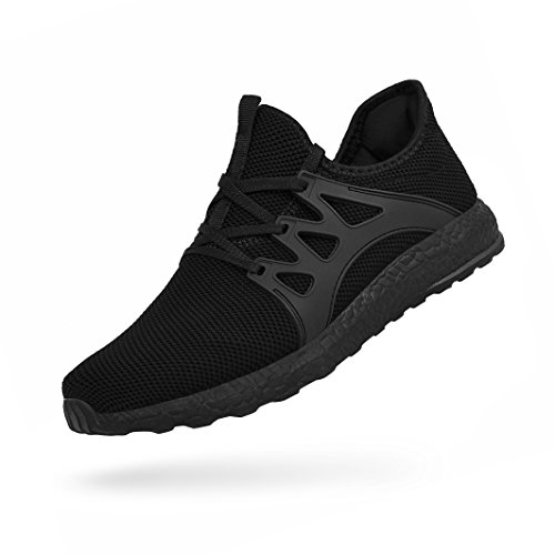 QANSI Mens Running Shoes Non Slip Resistant Workout Sneakers Lightweight Breathable Athletic Sports Walking Gym Tennis Shoes Black 9
