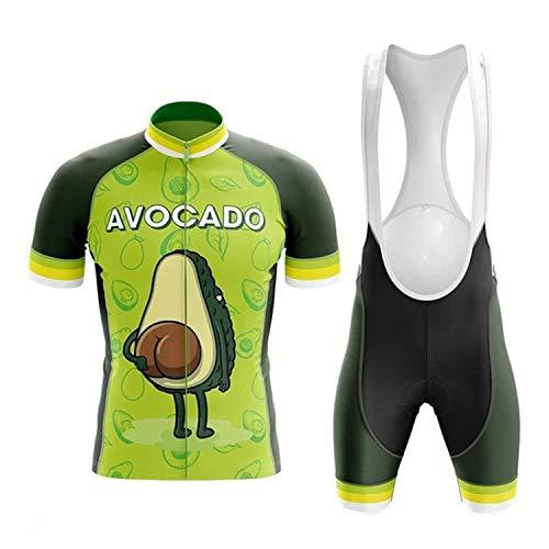 Maillot Ciclismo Corto De Verano para Hombre, Ropa Culote Conjunto Traje Culotte Deportivo con 3D Almohadilla De Gel para Bicicleta MTB Ciclista Bici (A-07,L)