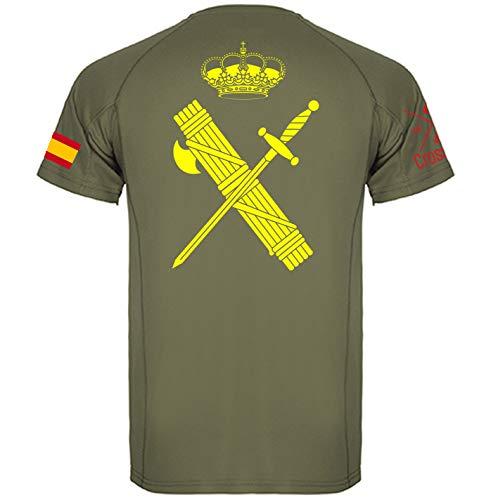 Crossfire Camiseta Técnica de la Guardia Civil (Verde Oliva, XS)