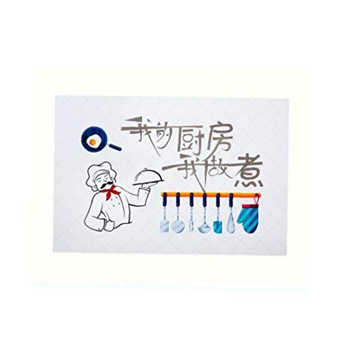linjunddd Küchen-Wand-Aufkleber-Vinyl Wandaufkleber Für Küche Wohnkultur PVC Kunst Dekorative Aufkleber Convenient Versorgungs