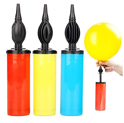 Liuer 3PCS Bombas de Globo,Inflador de Globo,Inflador de Globo, Bomba del Globo Manual Inflator para Globos y Bolas para Globos, Bolas de Yoga, Flotadores de Piscina(Color al Azar)