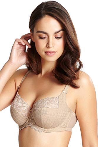 Panache Plus Size Women's Envy Balconnette Stretch Lace Bra, Nude, 30E