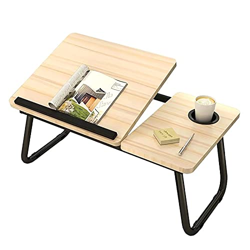 NIUXICH Bandeja de cama para ordenador portátil, mesa plegable portátil, cuatro niveles de ángulo de escritorio ajustable con barra antideslizante para sofá piso (solo mesa)
