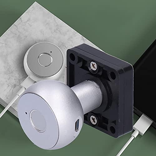 Cerradura eléctrica, cerradura de huella digital USB Cerradura de gabinete segura y confiable para puerta doble para puerta de armario