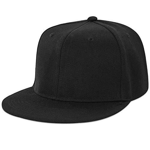 LIVACASA Basecap Snapback Herren Kappe Unisex Verstrellbar Baseball Cap für Damen Baseballkappe Sonnenschutz Täglich Cap Cappy in 6 Farben Schwarz