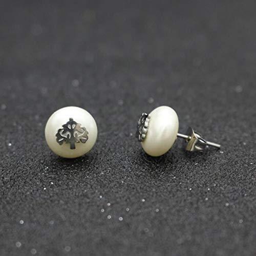 Women Stud Earrings Stainless Steel Tree Of Life Imitation Pearls Earrings Women Jewelry