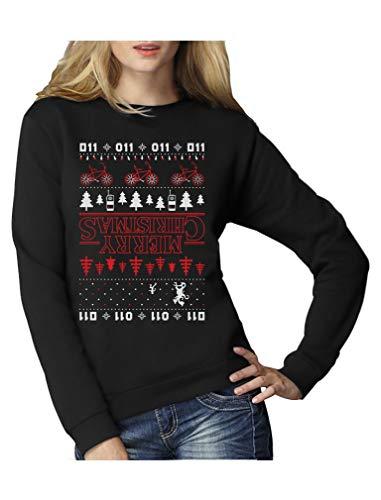 Green Turtle T-Shirts The Upside Down Hässlicher Weihnachtspullover Für Serien Fans Frauen Sweatshirt Small Schwarz