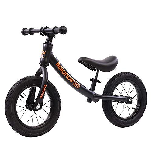 12'Balance Bicicleta de Acero Al Carbono Ninguno Pedal Balance Bike Bike Formar Bicicleta para Niños Y Niños Pequeños Bicicleta de Balance de 2 a 6 Años/A