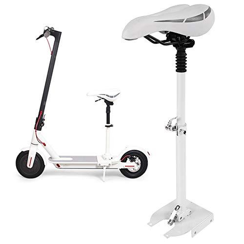Demeras Sillín de Asiento de Scooter eléctrico de PU Compatible con Compatible con XIAOMI M365, Asiento de Asiento Plegable Ajustable Que Absorbe los Golpes para Adultos