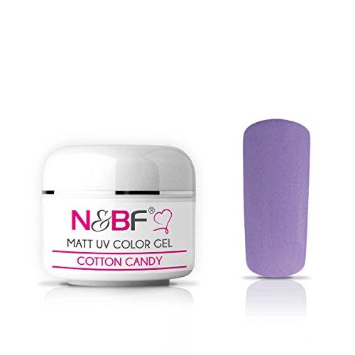 Gel de couleur mat Cotton Candy 5ml Gel de couleur UV