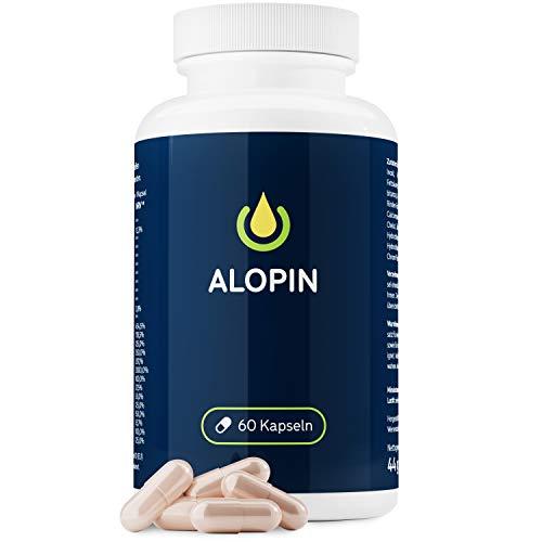 ALOPIN Hair Plus | Haarkapseln mit essentiellen Vitaminen & Mineralstoffen | Mit Sägepalmenextrakt & Brennnesselextrakt | MADE IN GERMANY