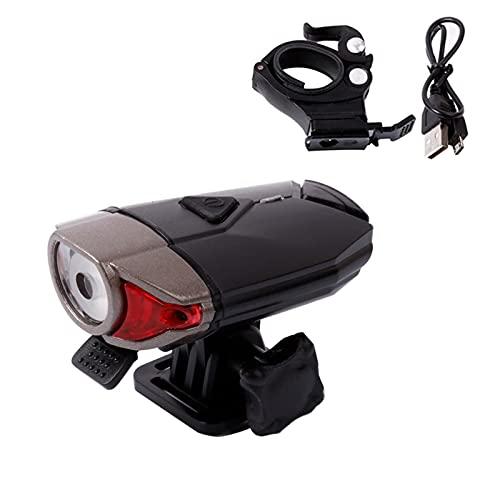 Faderr Fahrradhelm-Licht, LED-Fahrradhelm-Licht, 3 Modi, USB wiederaufladbar, wasserdicht, Fahrrad-Frontscheinwerfer, perfekt für Reiten oder Outdoor-Aktivitäten