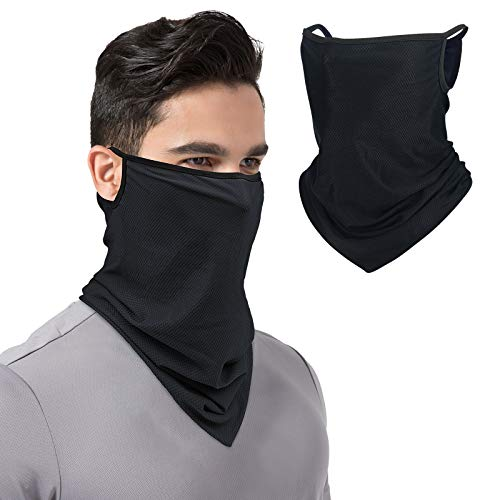 TALONITE Cooling Neck Gaiter With Ear Loops, Sun Mask Protection, Bandana Face Mask for Summer Cycling Fishing