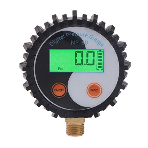 Sweo Digitales Gasdruckmessgerät, 0-10 bar, G1/4 Batterieleistungstester, Detektor, 0 ~ 145 psi Manometer