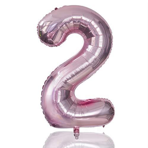 BEIFON Luftballon Geburtstag Folienballon im Zahlen-Design Riesen Folienballon in 40