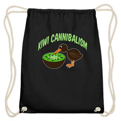 SPIRITSHIRTSHOP Kiwi Cannibalism - kiwivruchten en kiwivogel - katoen gymsac