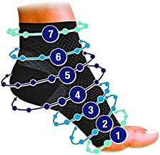 Pack of 2 - Compression Foot Ankle Angel Sleeve Anti Fatigue Compression Foot Sleeve Sock for Ankle Swelling Plantar (S/M)