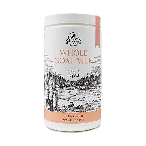 MT. CAPRA SINCE 1928 CapraMilk (Whole) | A Whole Goat Milk Powder, Easy to Digest - 1 Pound