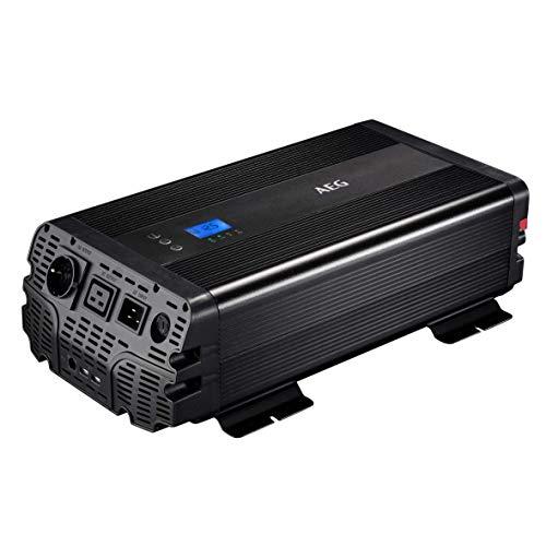 AEG Automotive 10064 Conversor de tensión sinusoidal, 3000 W, 12 V a 230 V, aplicación, conexión de prioridad y Control del Ventilador