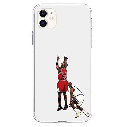 ETERINS Hülles Ultra Slim [Crystal Clear] [Hardwood Series] Soft Transparent TPU Hülle Cover - Michael The Shot Basketball Serie für iPhone 11 (6.1)