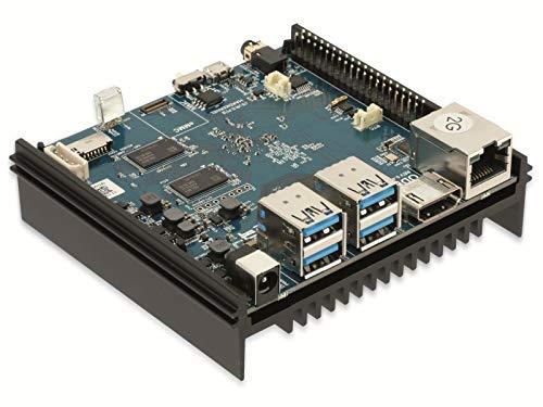 ODROID-N2 Einplatinen-Computer mit 2 GByte RAM, Mini PC Server Selbstbau PC Single Board Einplatine, eMMC, QuadCore, Android und Linux Betriebssystem